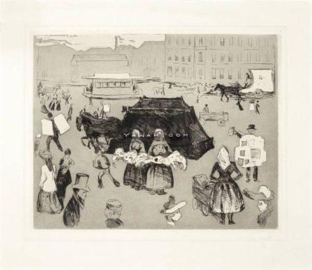 Edvard Munch-Der Leichenwagen, Potsdamer Platz / Likvognen, Postdamer plass-1902