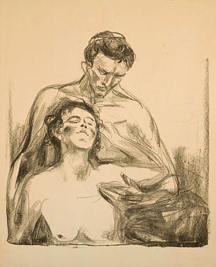Edvard Munch-To Mennesker / Two People / Zwei Menschen (Woll 659)-1920