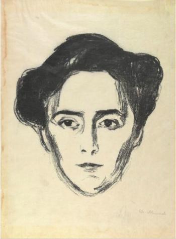 Edvard Munch-Fru Schwartz / Portrait Frau Schwarz-1906