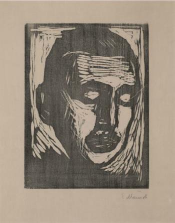 Edvard Munch-Jappe Nilssen / Portrait of Jappe Nilsen (Schiefler 351)-1911