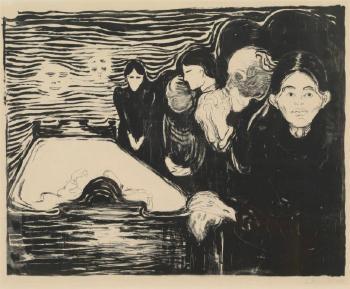 Edvard Munch-Ved dodssengen / Death in the Sickroom / Der Tod im Krankenzimmer / Sterbezimmer (Schiefler 73; Woll 65)-1896