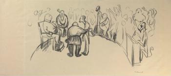 Edvard Munch-For Retten-1909