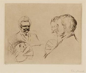 Edvard Munch-Kortspillere i Elgersburg (Card players in Elgersburg Delius)-1906