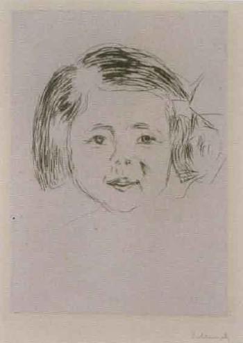 Edvard Munch-Herbert Eschers Datter / Herbert Esches Tochter / Herbert Escher's daughter-1905
