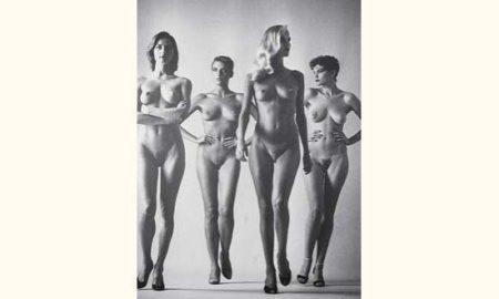 Helmut Newton-Quatre femmes nues-1981
