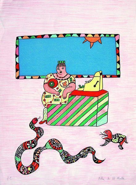 Niki de Saint Phalle-La caissiere-