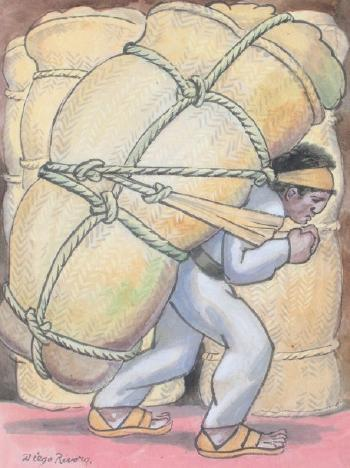 Diego Rivera-Le porteur de coton