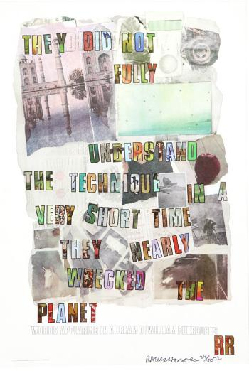 Robert Rauschenberg - 'They Did Not ...'-1972