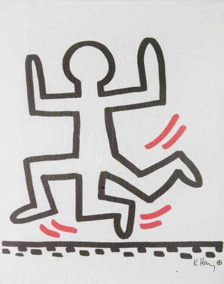 Keith Haring - 'Running man with three legs'-1982
