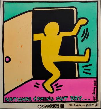 Keith Haring-Keith Haring - National Coming Out Day-1988