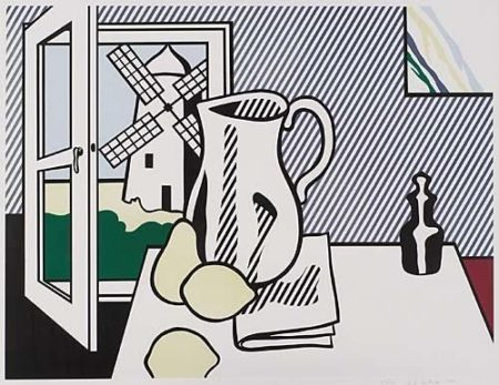 Roy Lichtenstein-Still Life with Windmill (from Six Still Lifes Series)-1974