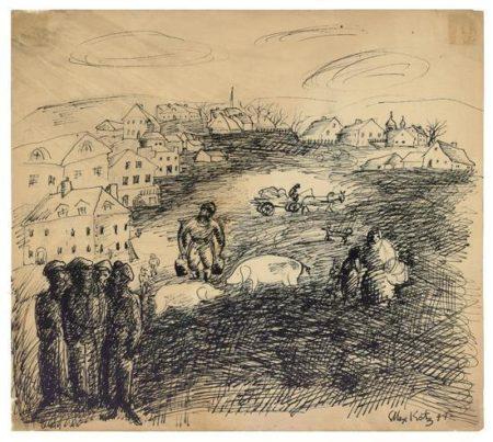 Alex Katz-Landscape Study-1949
