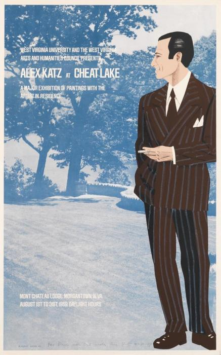 Alex Katz at Cheat Lake-1969