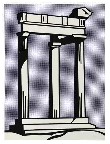 Roy Lichtenstein-Temple-1964