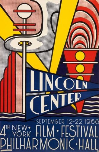 Roy Lichtenstein-Lincoln Center Film Festival Poster-1966