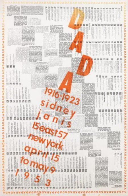 Marcel Duchamp-Dada (Exhibition) 1916 - 1923 - Sidney Janis (SCHWARZ 543)-1953