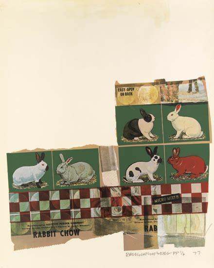 Robert Rauschenberg-Robert Rauschenberg - Rabbit Chow (From Chow Bags)-1977