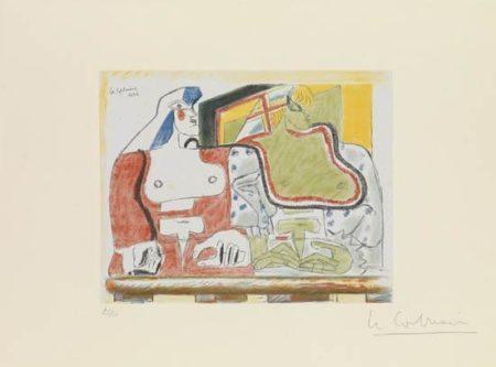 Le Corbusier-Deux femmes, visages a droite-1932