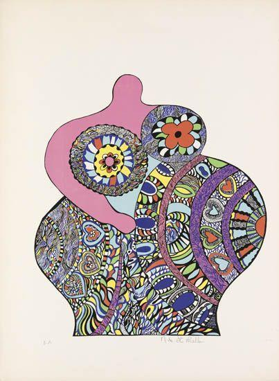 Niki de Saint Phalle-(i) In a Bath with You, (ii) Couple (iii) Nana-1970