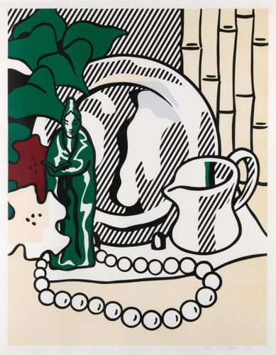 Roy Lichtenstein-Still Life with Figurine-1974