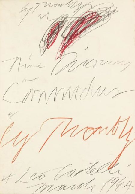 Cy Twombly-Nine Discourses on Commodus by Cy Twombly at Leo Castelli-1964