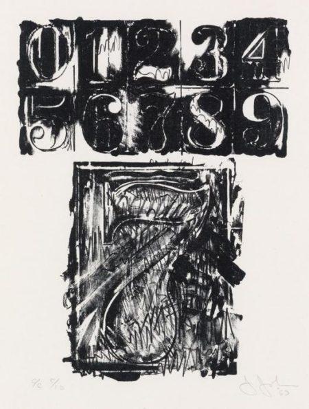 Jasper Johns-7 (Ulae 19)-1963
