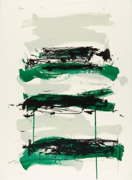 Joan Mitchell-Champs (Black, Gray and Green)-1991
