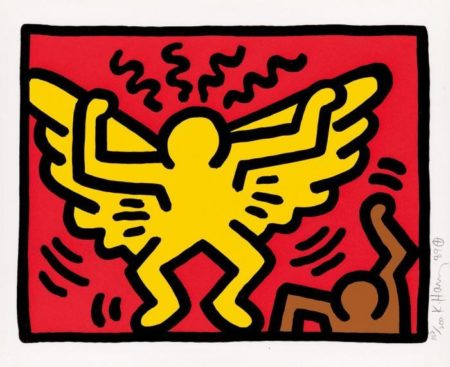 Keith Haring - Pop Shop IV-1989