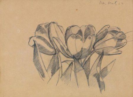 Alex Katz-Three Tulips-1967