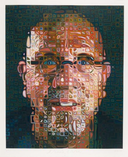 Chuck Close-Self Portrait, Screenprint-2012
