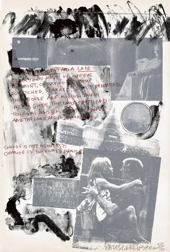Robert Rauschenberg - Presidential Inauguration (From Inaugural Impressions)-1977