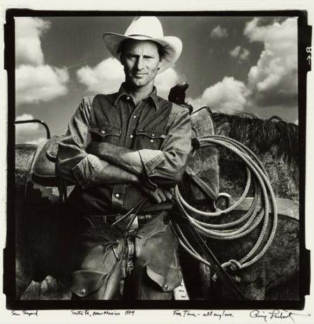 Annie Leibovitz-Sam Shepard, Santa Fe, New Mexico-1984