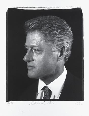Chuck Close-President Clinton, Profile / Untitled-1996