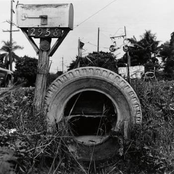 Robert Rauschenberg-Robert Rauschenberg - Study Of A Mailbox And Tire-1979