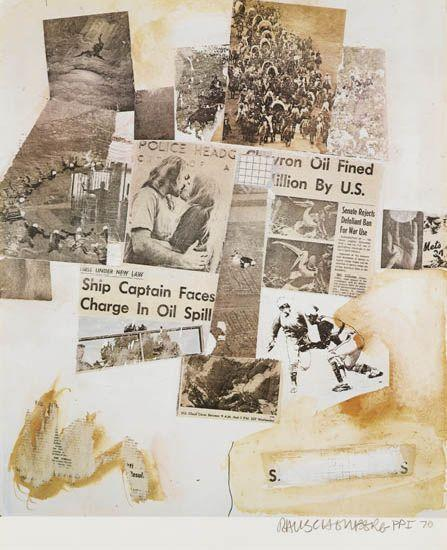 Robert Rauschenberg-Robert Rauschenberg - Ship Captain Faces Charge In Oil Spil (From Peace Portfolio I)-1970
