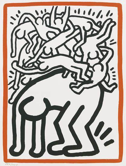Keith Haring-Keith Haring - Untitled.-1990