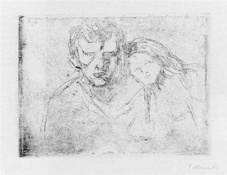 Edvard Munch-Liebespaar-1913