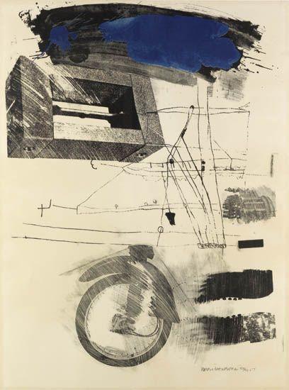 Robert Rauschenberg-Robert Rauschenberg - Test Stone # 6 (From Booster And Seven Studies)-1967