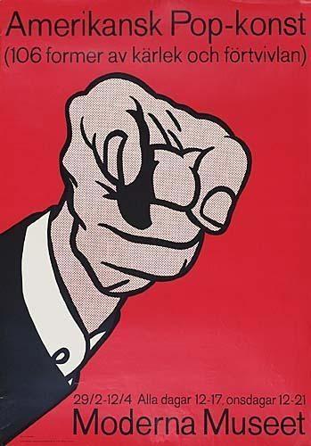 Amerikansk Pop-konst Poster; Lincoln Center Poster; Brushstrokes Poster; The Solomon R. Guggenheim Museum Poste; Apple (Poster); Leo Castelli (The Red Horseman); Visit the Garden Restaurant, Whitney Museum of American Art-1977