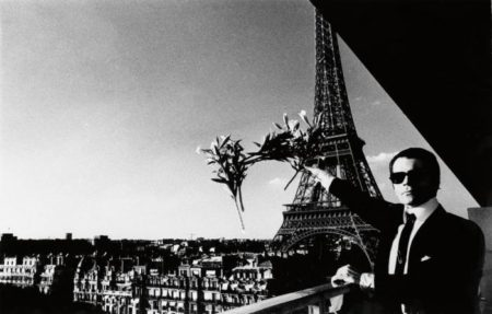 Portrait of Karl Lagerfeld in Paris-1976