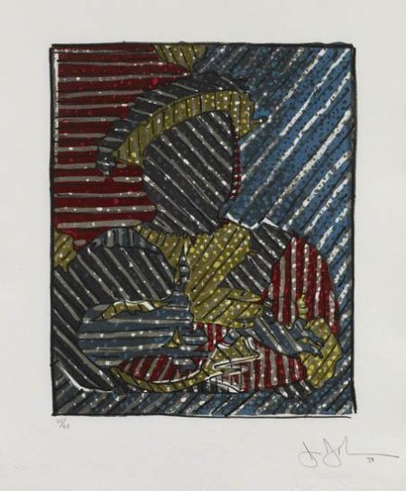 Jasper Johns-After Holbein (Field 259)-1993