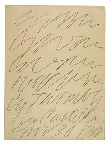 Cy Twombly-Leo Castelli Gallery Poster Design-1968