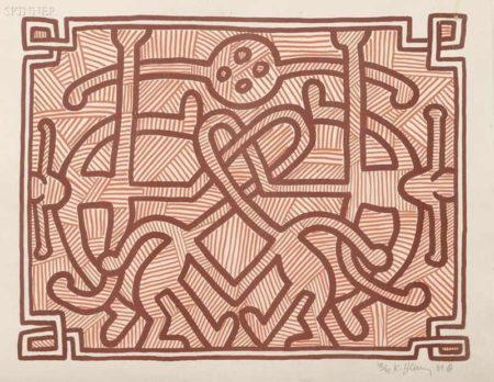 Keith Haring-Keith Haring - Chocolate Buddha 2-1989