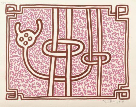 Keith Haring-Keith Haring - Chocolate Buddha 5-1989