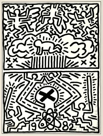 Keith Haring - Poster for the Nuclear Disarmament-1982