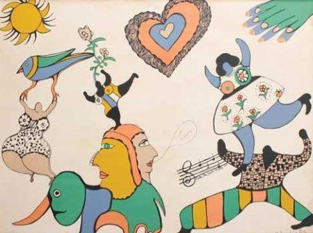 Niki de Saint Phalle-Je taime-1971