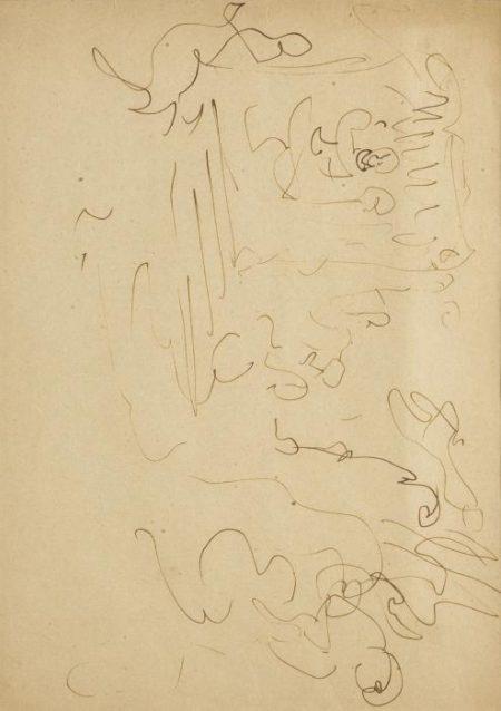 Lucio Fontana-Studio per la V porta del Duomo-