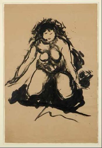 Lucio Fontana-Nudo femminile-1962