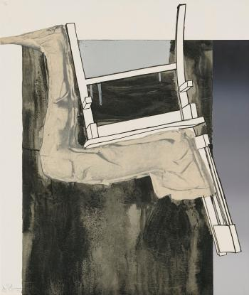 Jasper Johns-Fragment - According to What: Leg and Chair-1971
