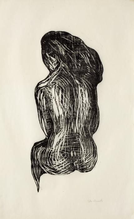 Edvard Munch-Seated Nude-1897